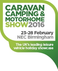 See us at the Caravan,Camping and Motorhome Show  2016 at the NEC  Stand 2229